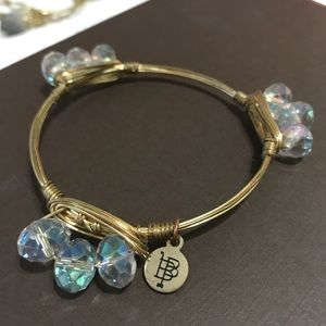 Bourbon and Boweties clear tri bead bangle